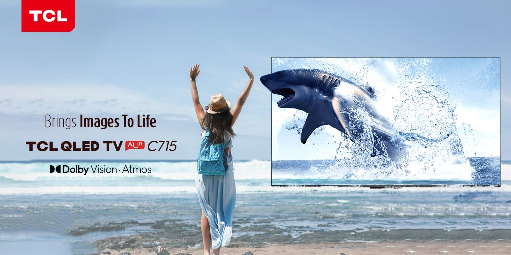With the advancement of Dolby Vision + Atmos, watch images come to life on the #TCL QLED TV C715.  https://t.co/65bfIuZu9U https://t.co/9RpufkelD2
