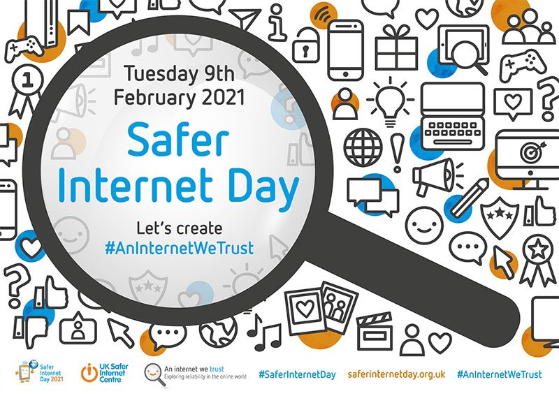Thank you and well done to everyone who took part in the #saferinternetday2021 challenges this week. It's great that so many of you took some time over the week to think about what trust is, what fake news is and how to spot fake news #AnInternetWeTrust @UK_SIC @safeinternetday