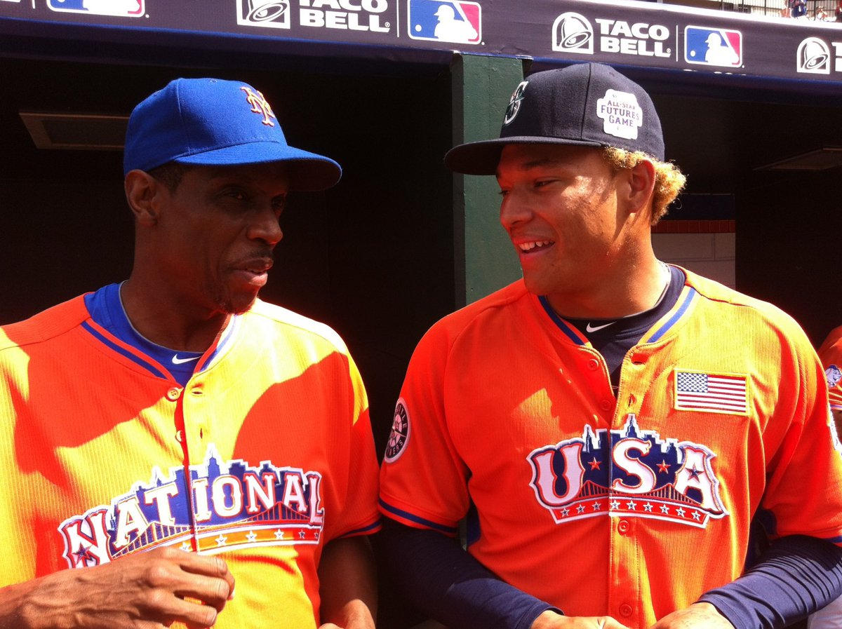 From the vault -  @tai_walker   @DocGooden16   New @Mets SP Taijuan Walker (per reports) talks pitching grips with Mets legend Dwight Gooden at the 2013 @SIRIUSXM All-Star Futures Game: