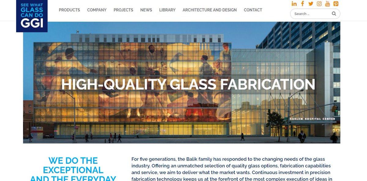 Website of the Week: @GeneralGlassInt https://t.co/1pvXellXas  #usglass #usgnn #glassnews https://t.co/SiRy4hgpB0