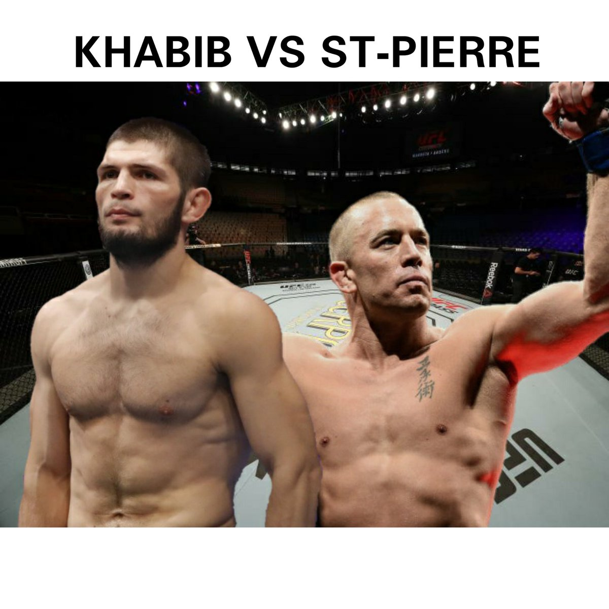 Segun muchos medios, la leyenda viviente khabib nurmagomedov solo regresaria de su retiro para enfrentarse a Georges St-Pierre. ¿Quien ganaria?  #UFC #UFCFightnight #boxing #fightnight #connormcgregor #khabib #lucha