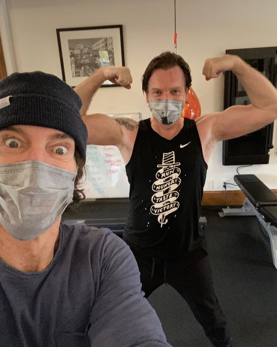Ewan is really out there giving us the gun show. 😵  Thanks to Tony Horton on Instagram 📸