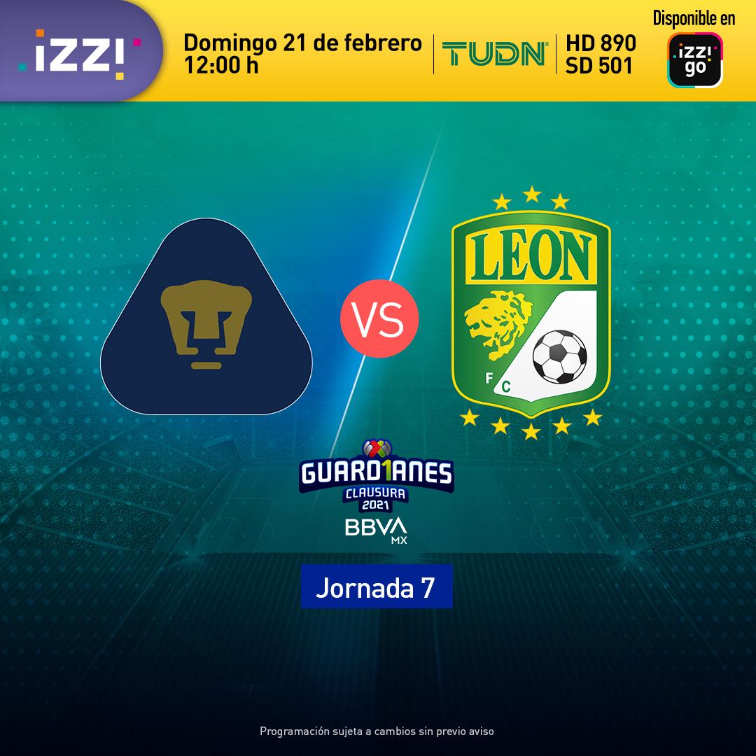⚽ ¡Domingo de futbol mexicano! No te pierdas el encuentro de Pumas contra León por TUDN. 🐾 https://t.co/sMYYRDnNUJ