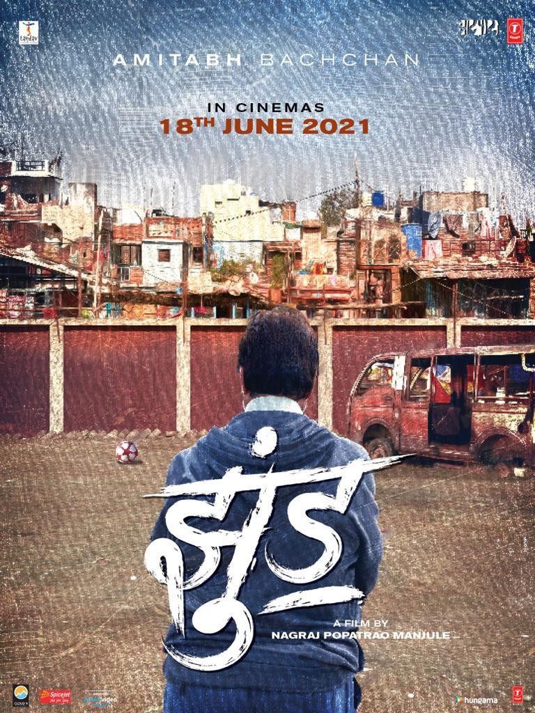 JHUND coming to meet you in theatres on 18th June 2021!!! ⚽️   @SrBachchan @Nagrajmanjule #BhushanKumar #KrishanKumar #SavitaRajHiremath @vinodbhanu #Shivchanana #GargeeKulkarni #SandipSsingh  @AjayAtulOnline @TSeries @Cloud9Pictures1 #Tandav @aatpaat