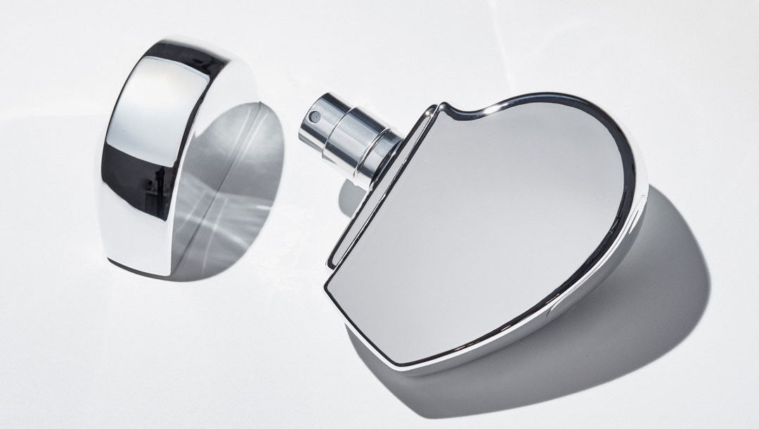 Rose water, tuberose and brushed suede are some of the captivating scent notes in the new Hearts Silver fragrance.