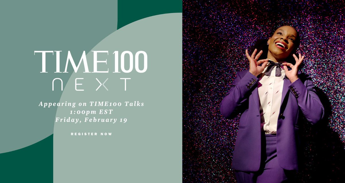 Tune in today at 1pm ET for #TIME100Talks with @TIME! Register here: #TIME100NEXT