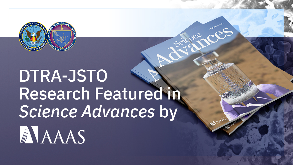 DTRA-JSTOs collaborative research was recently featured in @ScienceAdvances by @AAAS. To learn more, the On-demand biomanufacturing of protective conjugate #vaccines article is available here: advances.sciencemag.org/content/7/6/ea… #DTRA #JSTO #biodefense #antibiotics #detectdeterdefeat
