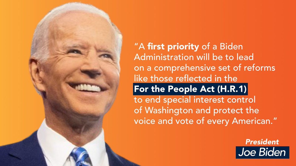 We will never have a true Democracy unless every eligible voter has access to the ballot box. @POTUS should use the power of his upcoming #SOTU to call for the swift passage of the #ForThePeopleAct.