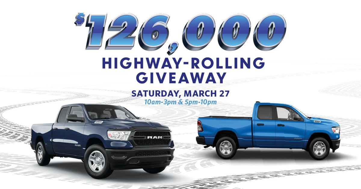 Hit the road for your chance to win a new truck during our $126,000 Highway-Rolling Giveaway on March 27. Earn entries Feb. 1-March 27 by playing with your Island Passport Club card. Receive one entry for every 10 base points you earn!