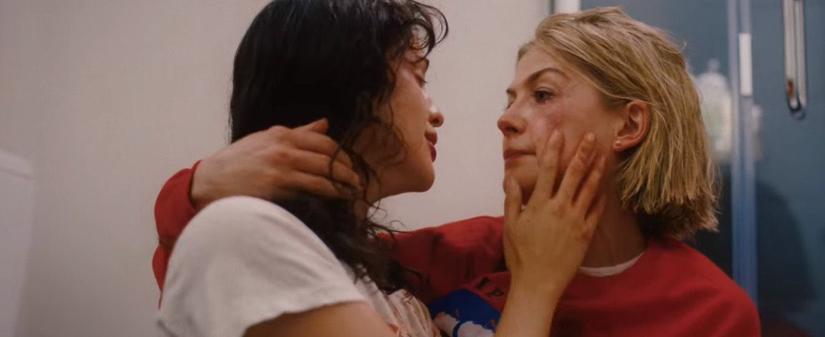 can't stop thinking about rosamund pike and eiza gonzález in i care a lot (2021)