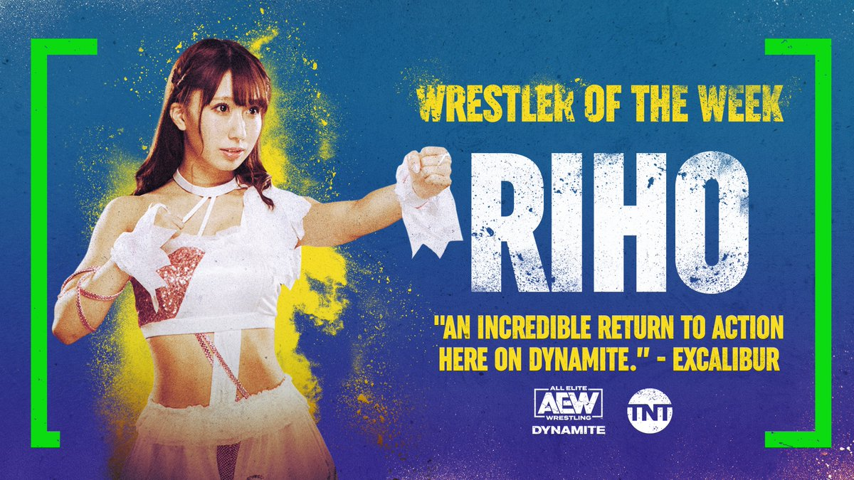 What a return to the ring for @riho_gtmv, our #WrestlerOfTheWeek 💪