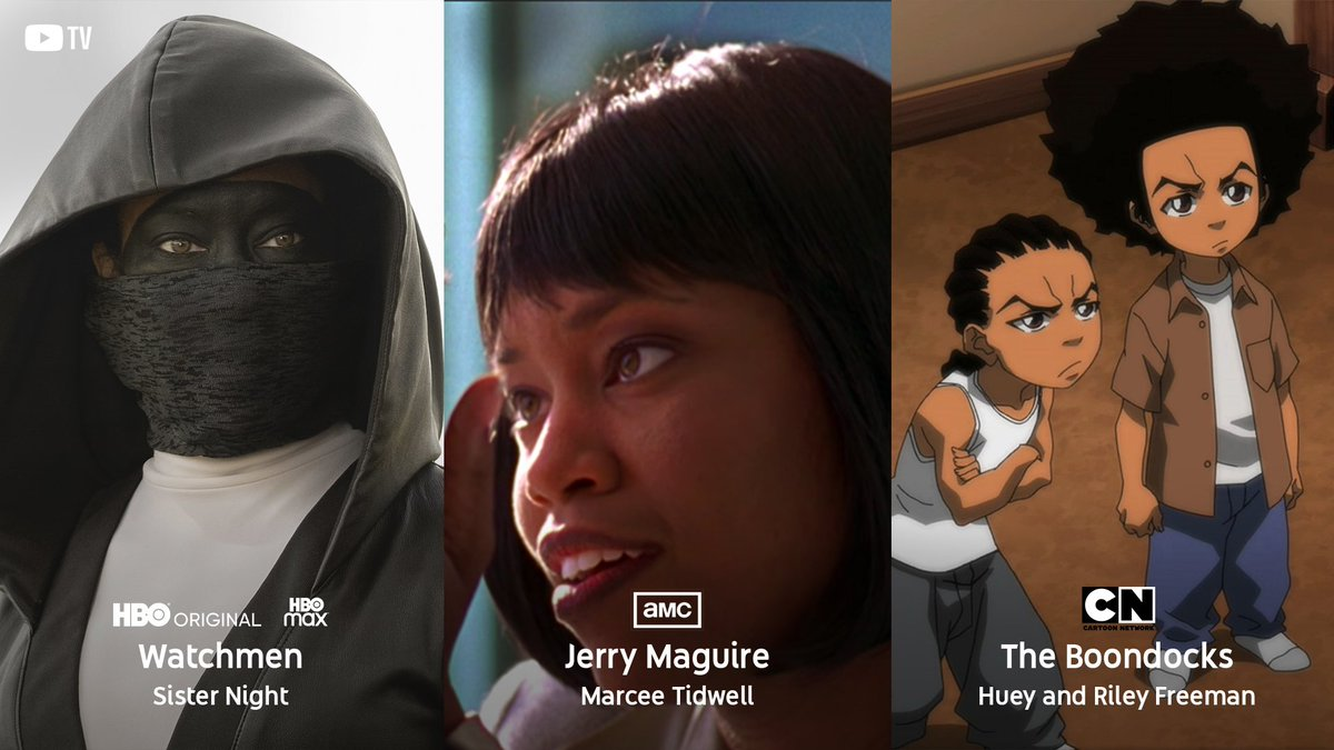 She gave us a daring performance as @Watchmen's Sister Night.  She's showed us the 💰 (& major chops) in Jerry Maguire. And brought two characters to life in the series #TheBoondocks.  @ReginaKing is the leading lady we all need! #CreateBlackHistory