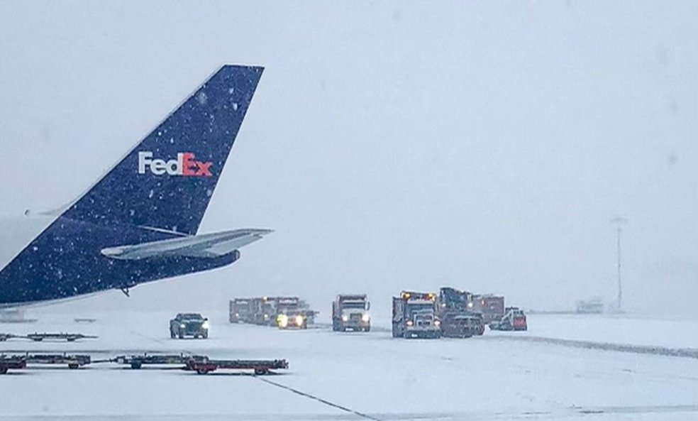 Thank you to our incredible team members who have kept critical shipments moving this week while this severe storm system moved through much of the U.S. The strength of the FedEx network enabled us to reroute and continue to safely deliver COVID-19 vaccines.