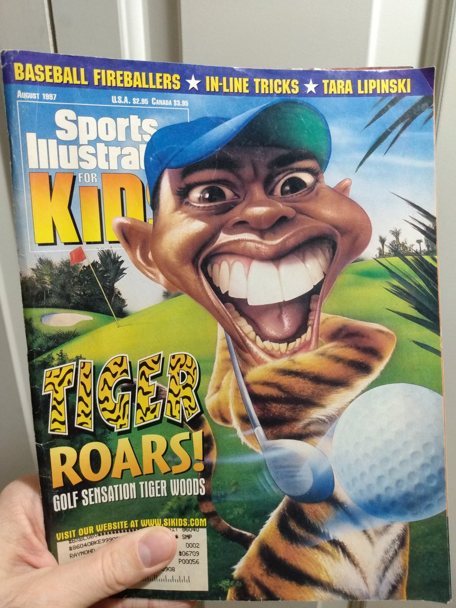 Finally got around to watching that #TigerHBO documentary and it gave me a whole new perspective on this issue of Sports Illustrated For Kids 😬 #90skid