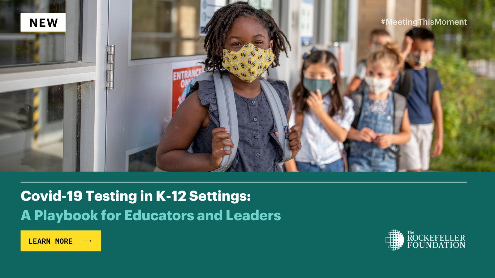 "The Rockefeller Foundation on Twitter: ""Our K-12 Testing Playbook is  informed by experiences from 90+ school district & public health leaders.  This guidance can help practitioners on the ground address everyday  realities"