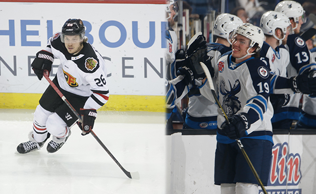 The #MBMoose announced today the team has signed forwards Kamerin Nault and Peter Krieger to professional tryouts. The club also announced the team has assigned forward Biagio Lerario to the ECHL's @JaxIcemen.  DETAILS >>   #GoMooseGo