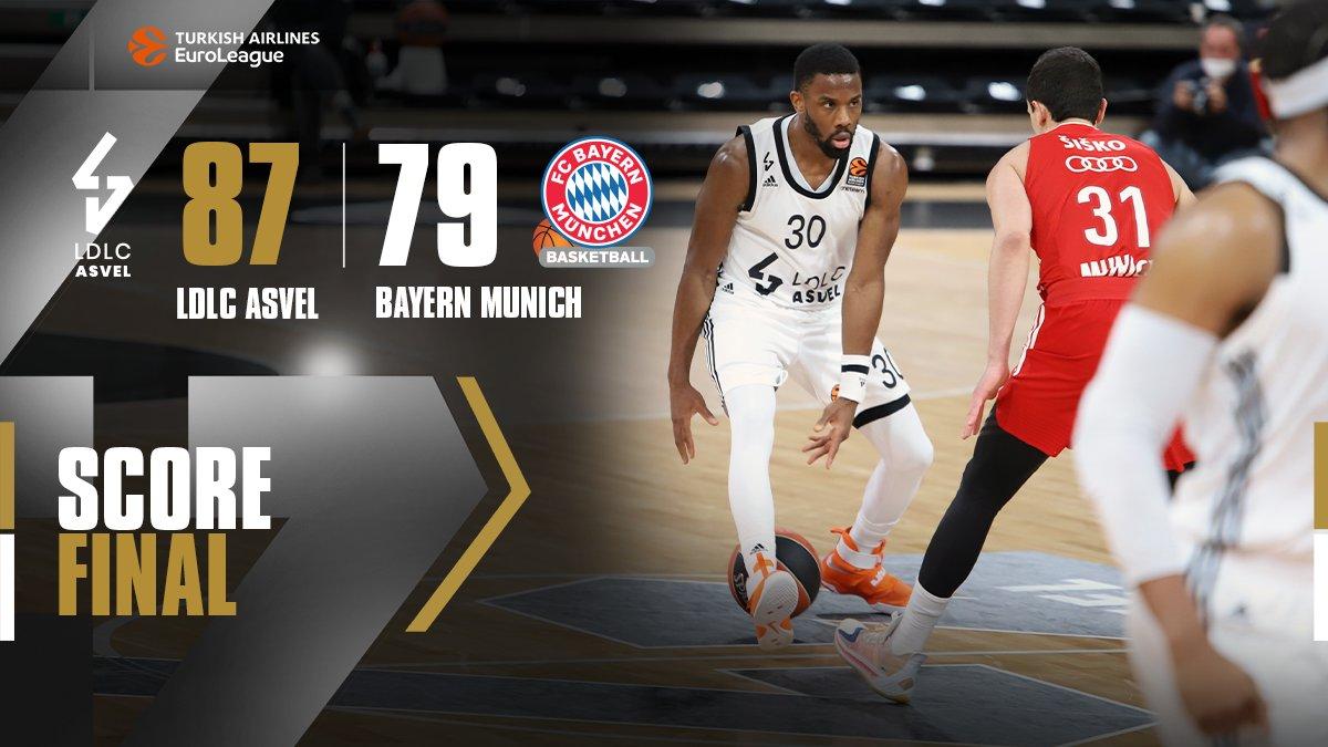 EuroLeague – L'ASVEL mette la quinta e la vince due volte, il Bayern cade all'Astroballe