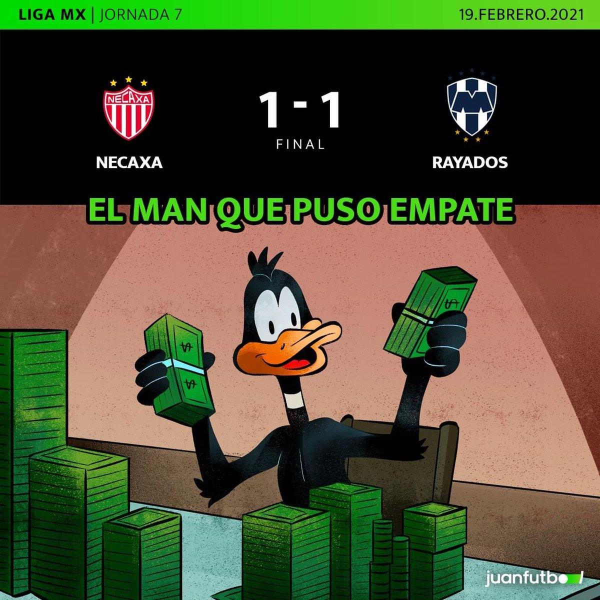 ¡SE ACABÓ!  Monterrey sigue sin convencer y empata contra Necaxa. Los del Vasco tuvieron varias ocasiones para sentenciar pero perdonaron. Los goles fueron de Meza y Barragán. https://t.co/6LM8Y8r34u