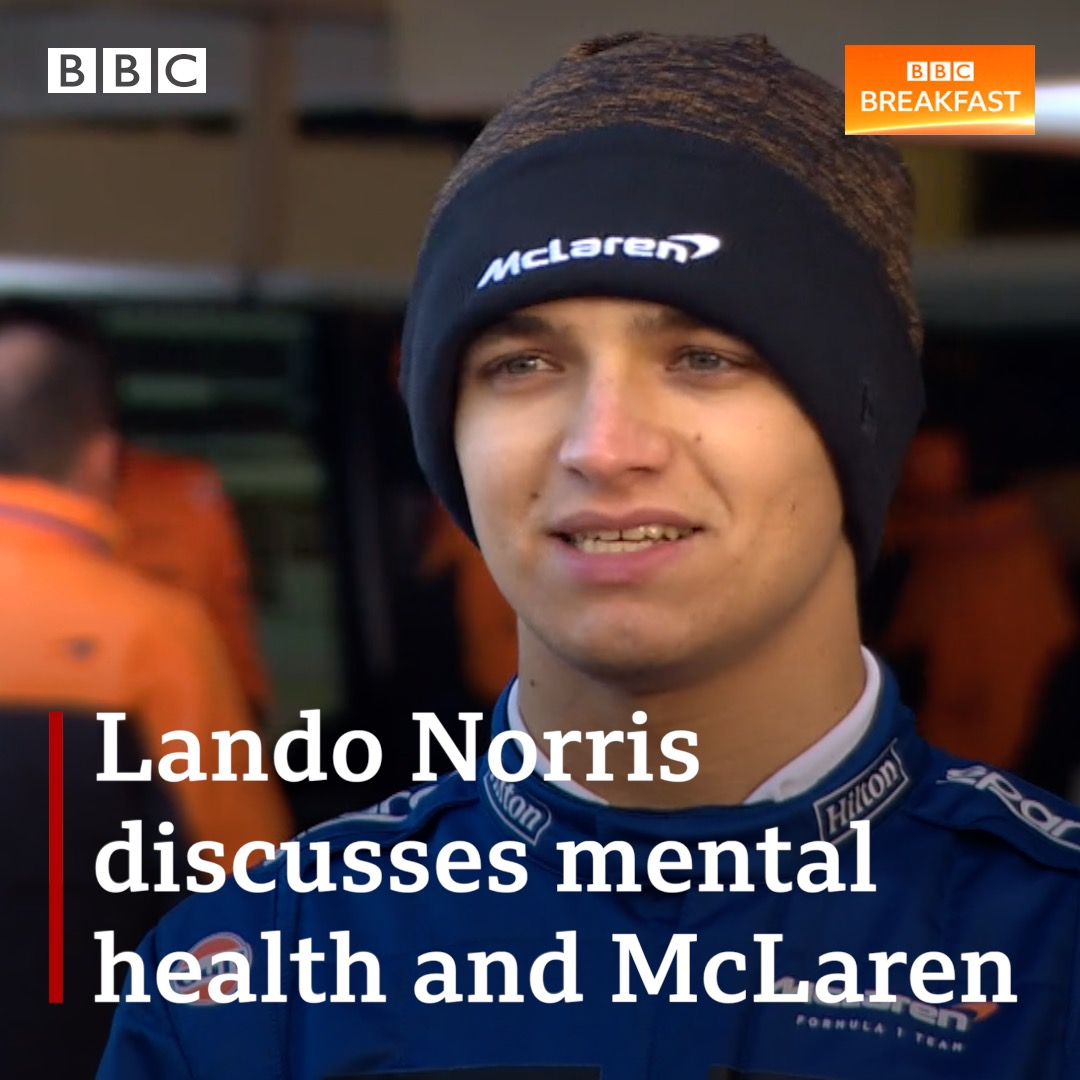 """""""Mentally, I did struggle a lot… the best thing is to talk""""  McLaren F1 driver Lando Norris talks to #BBCBreakfast about mental health and gaming with those feeling isolated.  The team have also been producing ventilators for the NHS during the pandemic."""