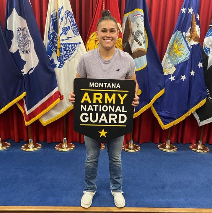 The Montana Army National Guard sends Ronan-local & Montana junior Pfc. Micalann McCrea to One Station Unit Training this month to be the 1st female lower enlisted infantryman in the state. Congrats Micalann - welcome to the Montana National Guard!  Story: