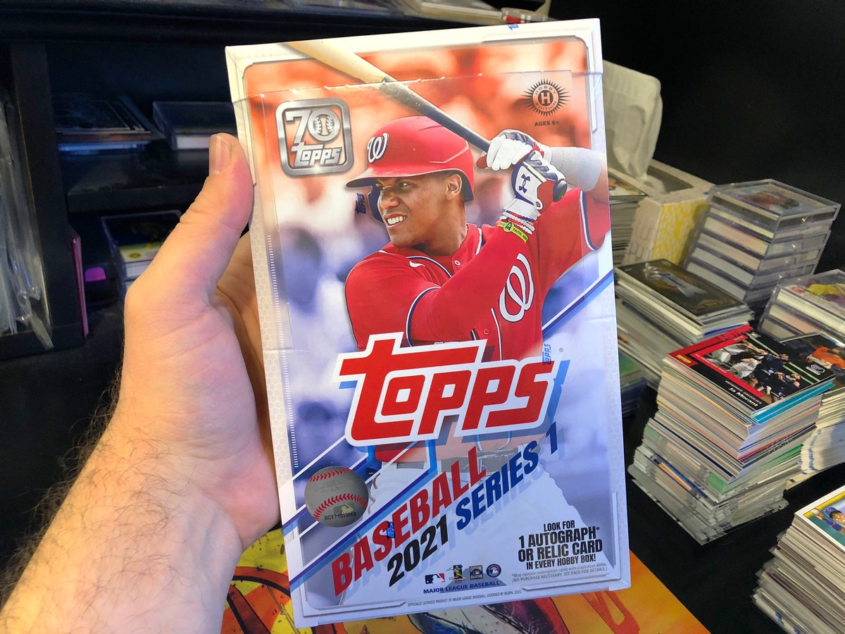 Is it too early for a HOBBY BOX giveaway???  RT & Follow to enter to win this Topps Series 1 ⚾️ hobby box!   Drawing Monday.  Winner has 1 week to watch drawing and claim #Collect #TheHobby #ToppsBaseball