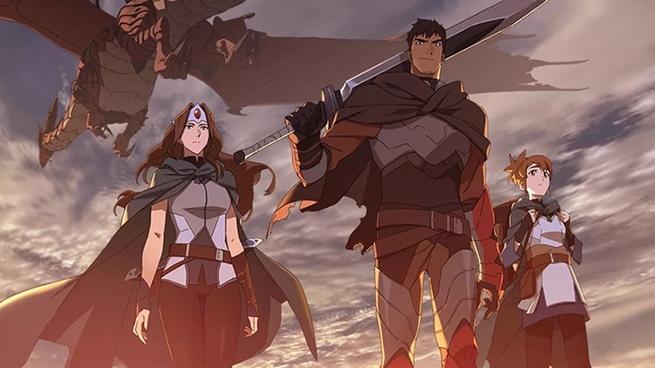Dragon Knight e Mirana.
