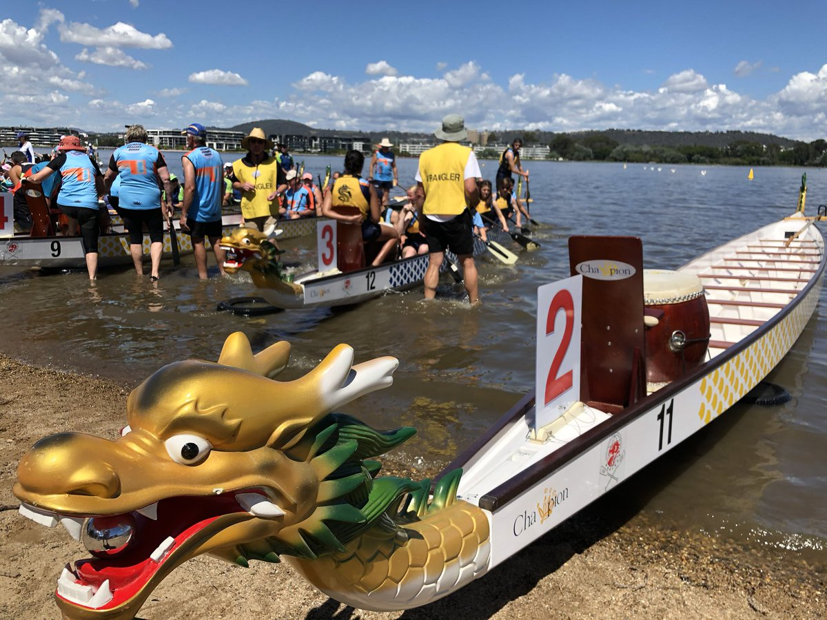 CGS Dragon Boaters having a great day on the lake! #CGSSport @CanberraGrammar @JAGarrick