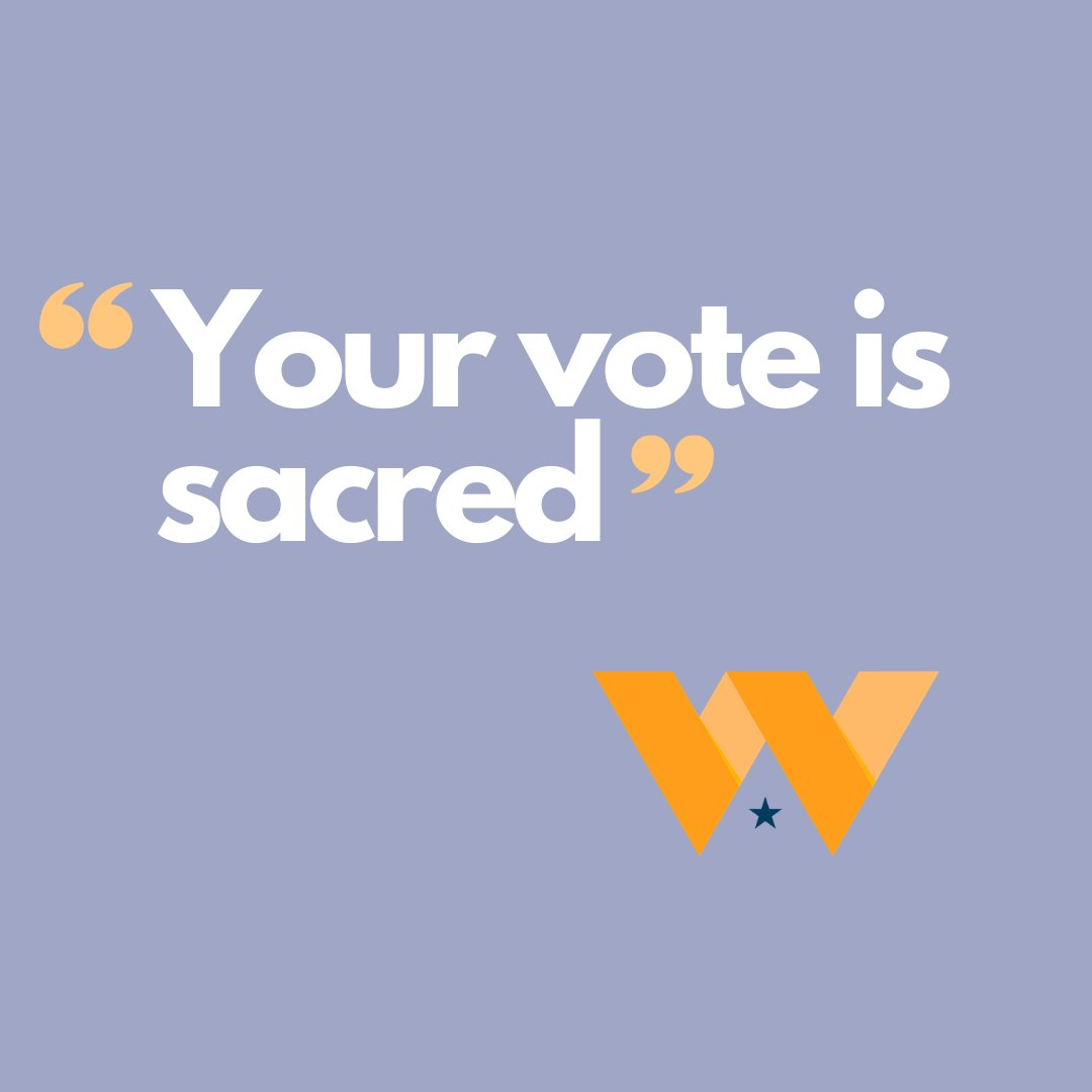 Your vote is sacred.