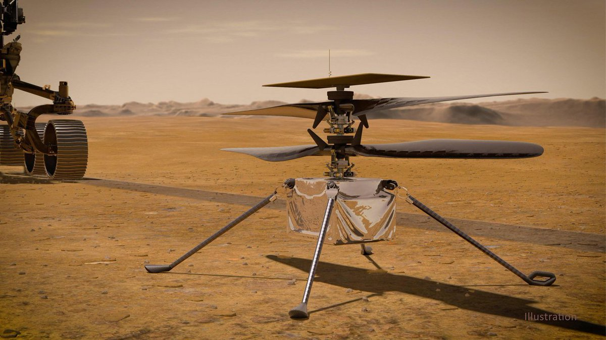 Ingenuity phoned home. Mission controllers have received the first status report from the Mars Helicopter, which is currently attached to @NASAPersevere's belly. The technology demonstration and its base station are operating as expected. go.nasa.gov/3dtLvSm #CountdownToMars