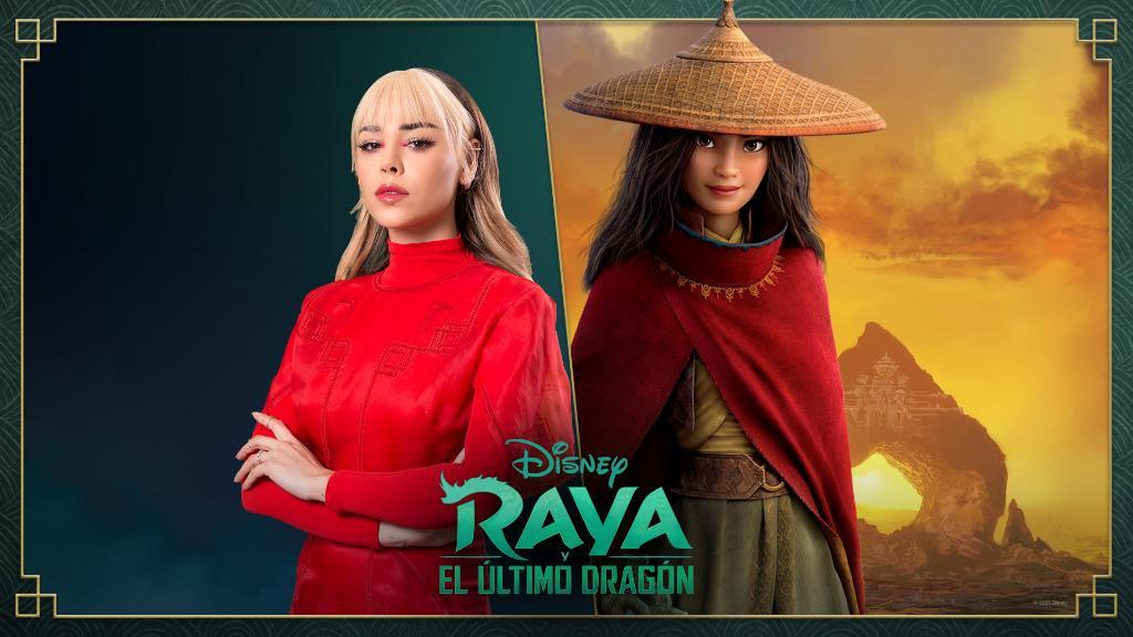 """.@dannapaola será la voz de Raya en la versión en español de Raya y el Último Dragón. Además, interpretará """"Hasta vencer"""", canción de la banda sonora de la película. Estreno mundial 5 de marzo en cines y en #DisneyPlus Premier Access con costo adicional. #DisneyRaya"""