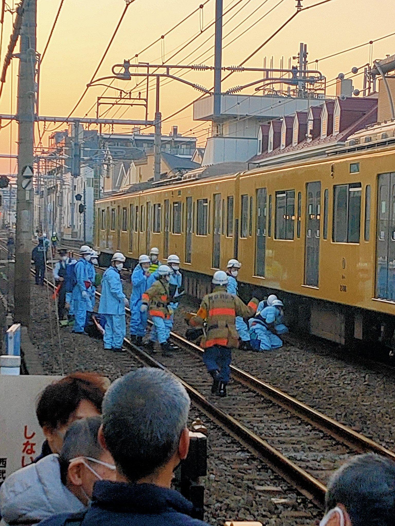 西武池袋線の椎名町~東長崎駅間の人身事故の画像