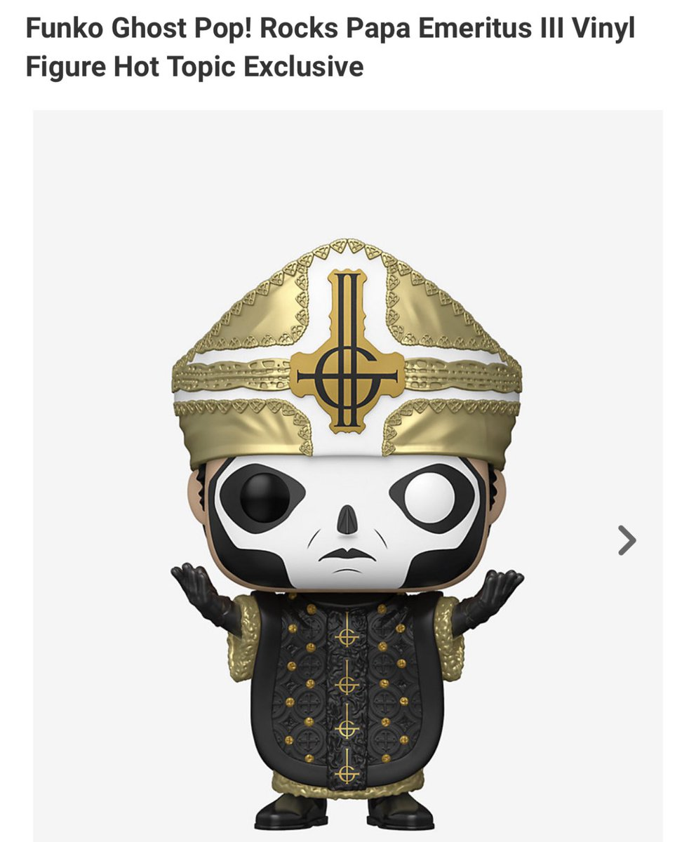 Hot Topic exclusive Papa Emeritus III is available for preorder! #Funko   .