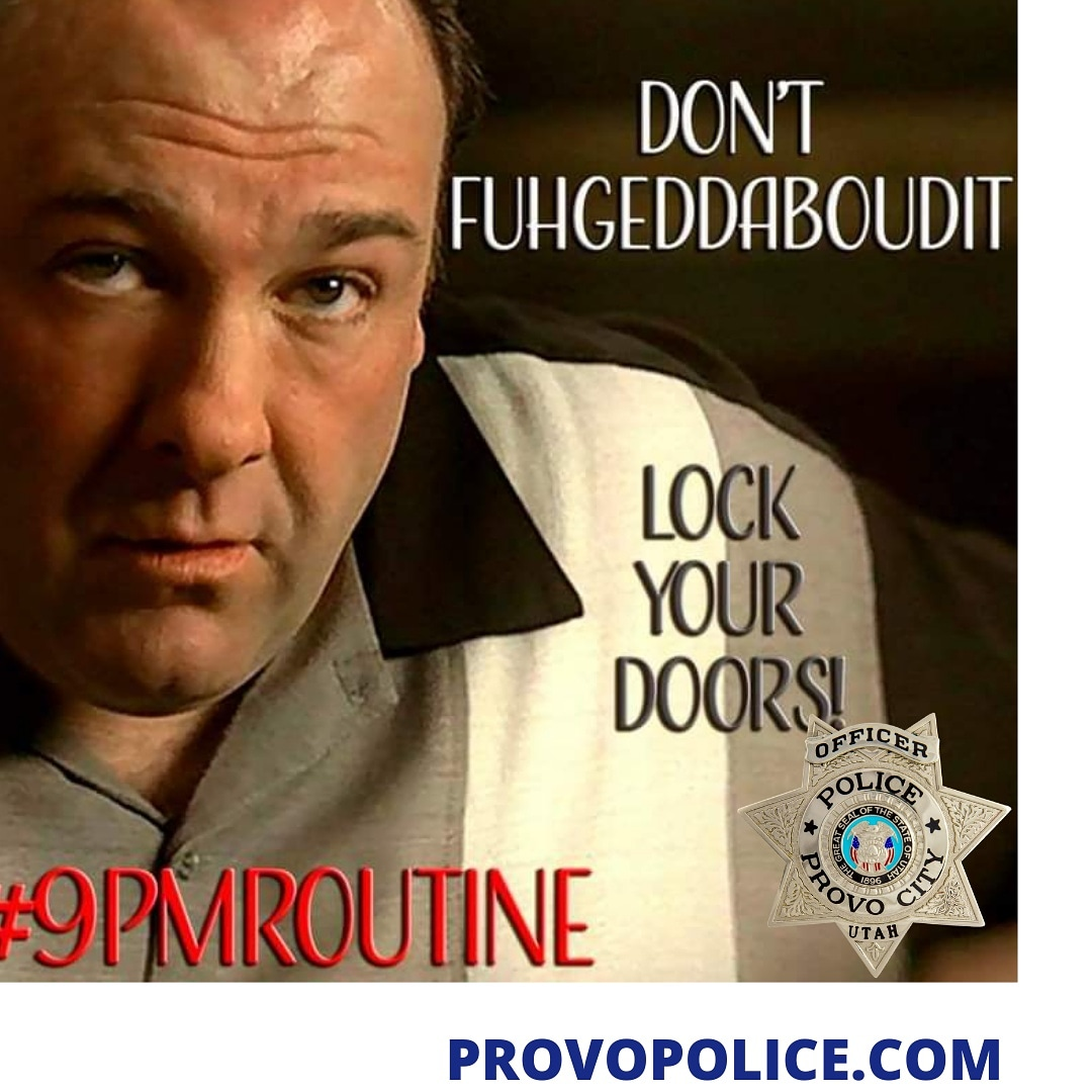 It is time for the #9PMRoutine  🔐 LOCK UP your car, house, windows, garage, gates, shed 💡TURN ON exterior lights, security cameras, alarm systems 🚲BRING IN valuables from your car, yard, patio