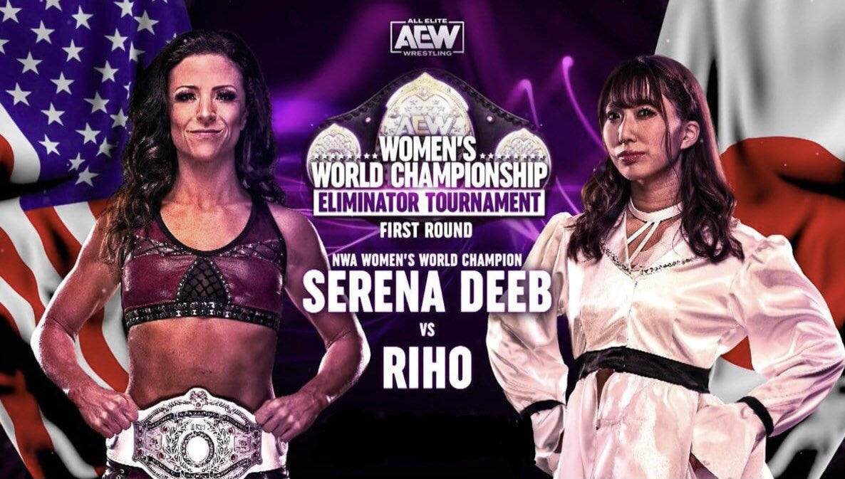 Just caught up with #AEWDynamite and was blown away by @SerenaDeeb vs @riho_gtmv! The chemistry between them in this match was tremendous and they could headline a PPV anywhere in the world. I'm thinking champion vs champion #AEW #SerenaDeeb #Riho