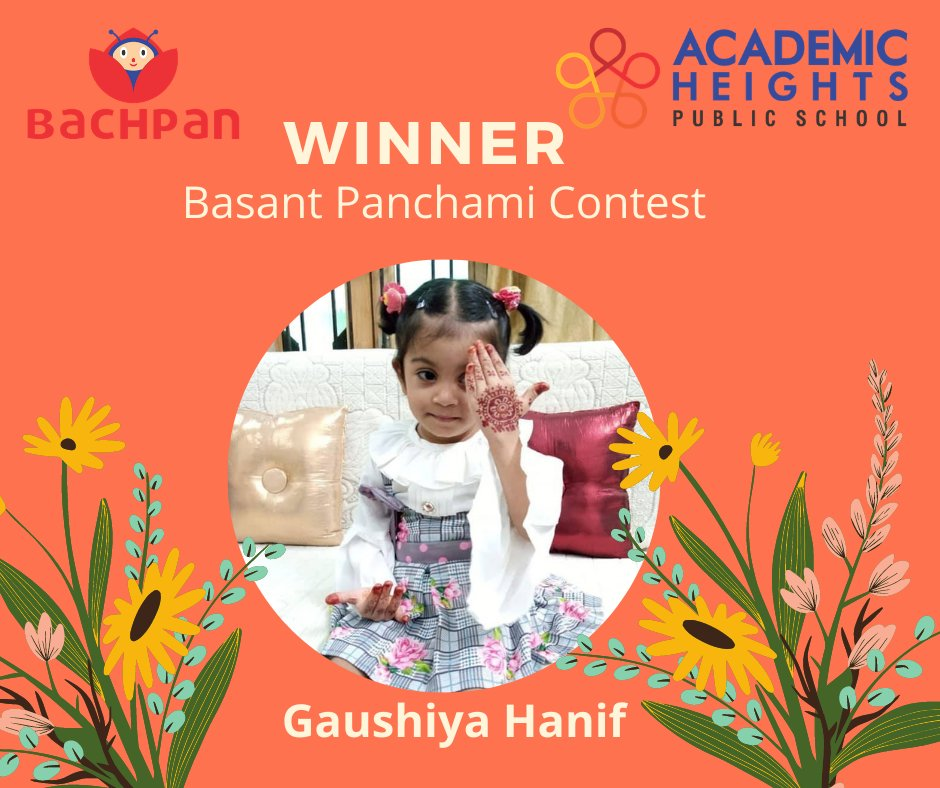 """Congratulations """"Mrs. Gaushiya Hanif"""" have won the Basant Panchami Contest"""". She has fulfilled all the eligibility conditions for winning this contest! Keep following us for more interesting posts and contests!  #contest #winners #BasantPanchami #BasantPanchamiContest"""