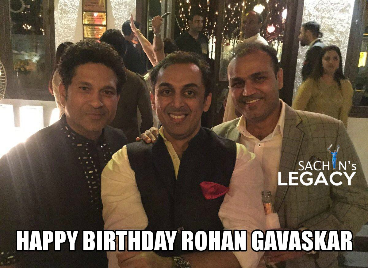 Wishing a very happy to @rohangava9 who represented #India in ODIs and captained #Bengal for couple of seasons  Fact: Both #Rohan & #sunilgavaskar picked their international wicket off the 5th ball of their 1st over #IPL2021Auction  -A post from @sachin_rt pakistani fan page