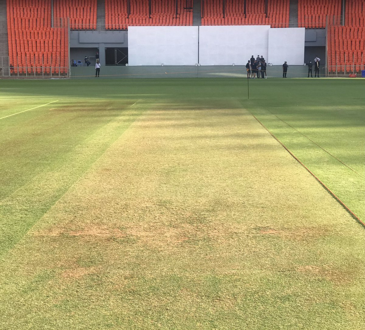 "CricketMAN2 on Twitter: ""This is Motera Stadium today's Pitch for the 3rd  or Pink Ball Test match between India and England. #INDvENG… """