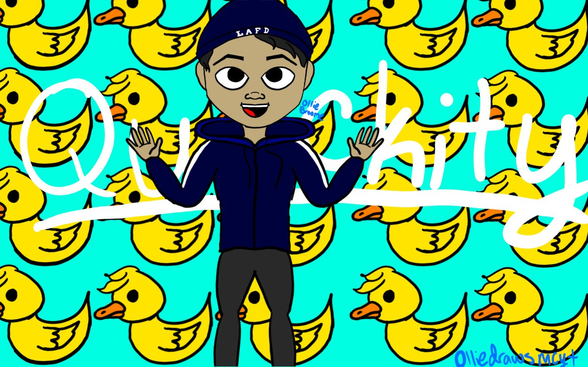 I drew Quackity :D (oh look ollie's art style changed again what a surprise) anyways Big Q is Big Pog #quackityfanart #quackity #quackitysupport