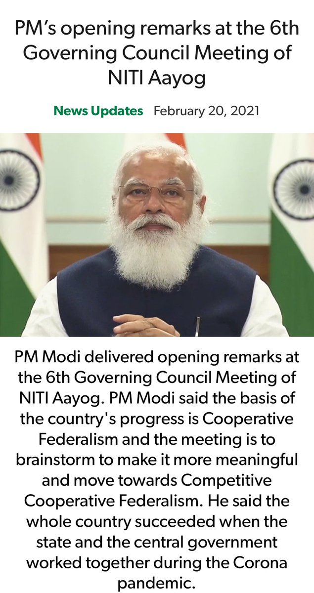 PM's opening remarks at the 6th Governing Council Meeting of NITI Aayog nm-4.com/c6LTeq via NaMo App@
