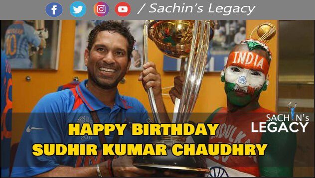 Undoubtedly #SachinTendulkar has billion of fans around the world including one tweeting from #Pakistan but here's wishing to man who painted himself with #Tendulkar #sudhirchaudhary happy birthday #arjuntendulkar #sachinprideofindia   -A post from @sachin_rt pakistani fan page