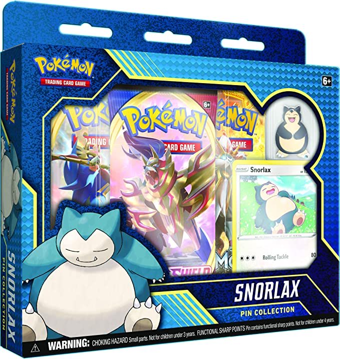 Pokemon TCG: Snorlax Pin Collection  Only $14.99!!