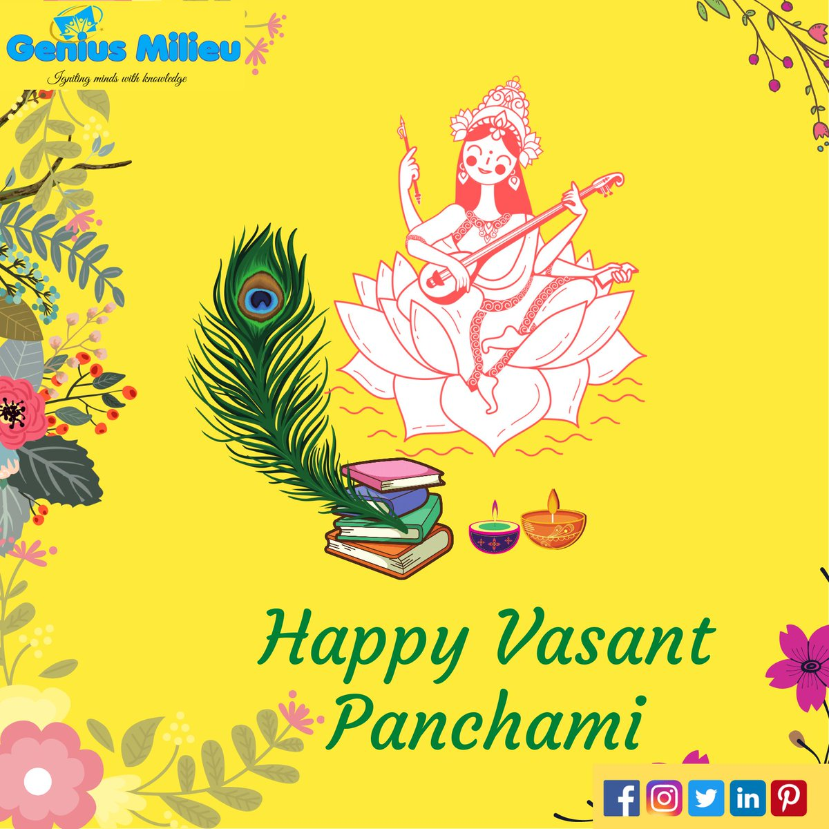 May the Goddess Saraswati bless you with knowledge and wisdom!🍀💛  🕊️🌄🌾  🌿Wishing you a 2021 blissful Vasant Panchami!🍃 #vasantpanchami #happyvasantpanchami #happyvasantpanchmi2021 #vasantpanchami2021🌻🌼 #basantpanchami #happybasantpachami🌹🌷💕🌼👏 #flowers #sitar #music