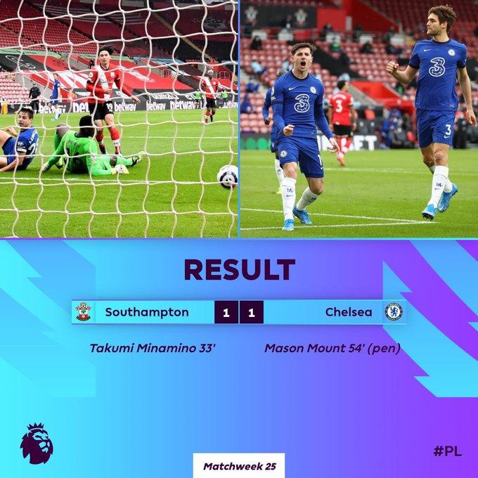 Southampton vs Chelsea, gol Mason Mount
