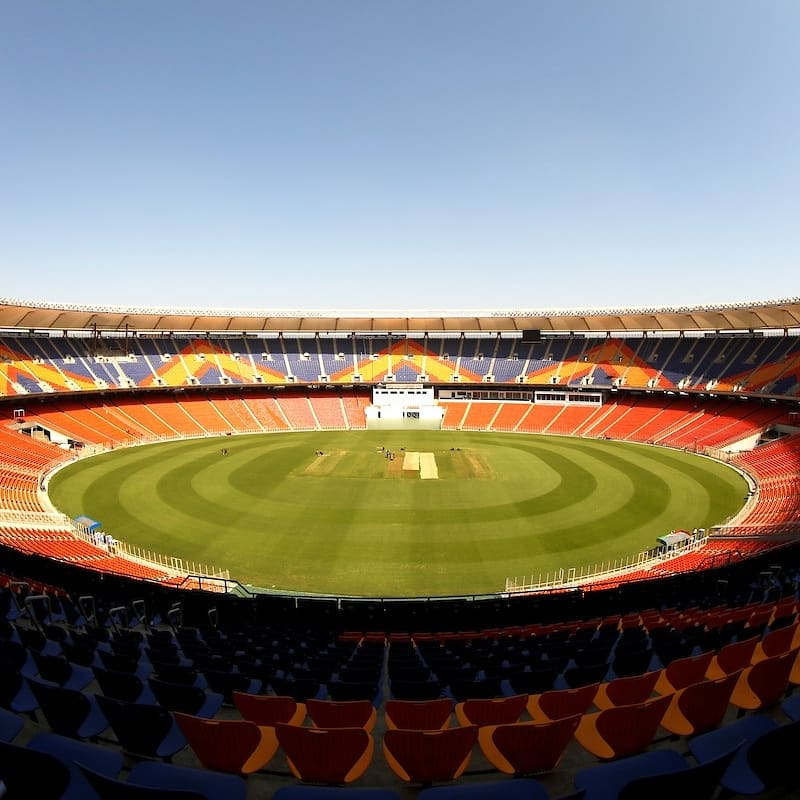 Eagerly waiting to step out and play at the impressive Motera!   Congratulations to @JayShah and the @GCAMotera team on building a fantastic stadium!  #indvseng #pinkballtest
