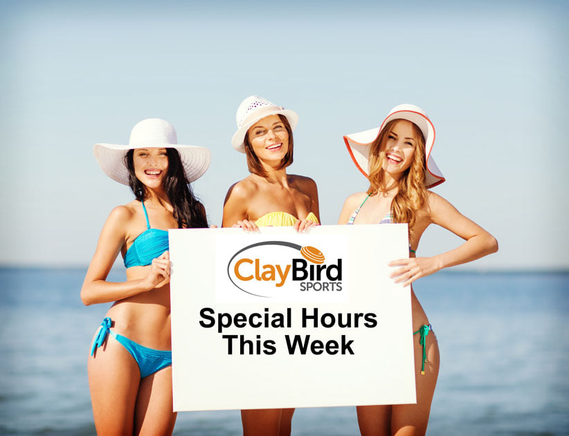 Clay Bird Sports in #Shawnee with special 'cabin fever hours this weekend and next week...  Saturday 12 to 5 Sunday 12 to 5 MONDAY 10 to 5 TUESDAY 10 to 5 WEDNESDAY 10 to 5 https://t.co/ZQOfDwcd2g