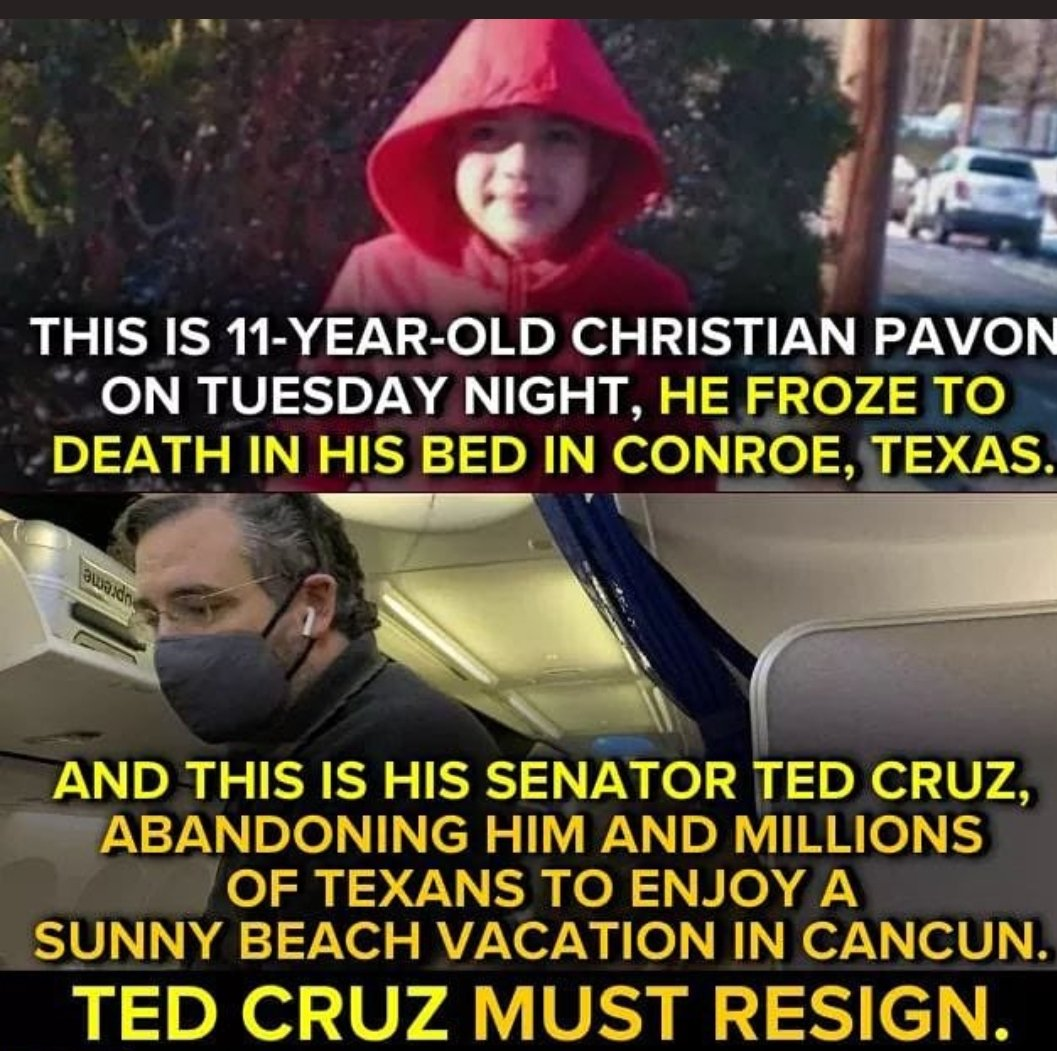 @SenTedCruz Did you get your girls to a warm spot on the taxpayers dime while other children froze to death.