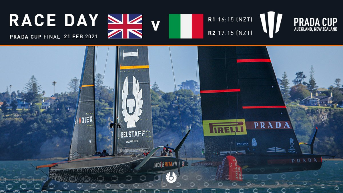#PRADACupFinal RD4 | Schedule Expect another thrilling day of @americascup action today with two races out on Course A, the most northerly course. Forecast is for a steady 10-14 knots north-easterly breeze. 📺 @SkySports / @BBCiPlayer 🌐 INEOSTEAMUK.com