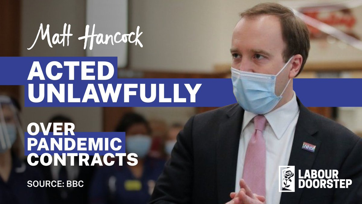 Matt Hancock broke the law on PPE contracts Share this if you think he should #resign! #EnoughIsEnough
