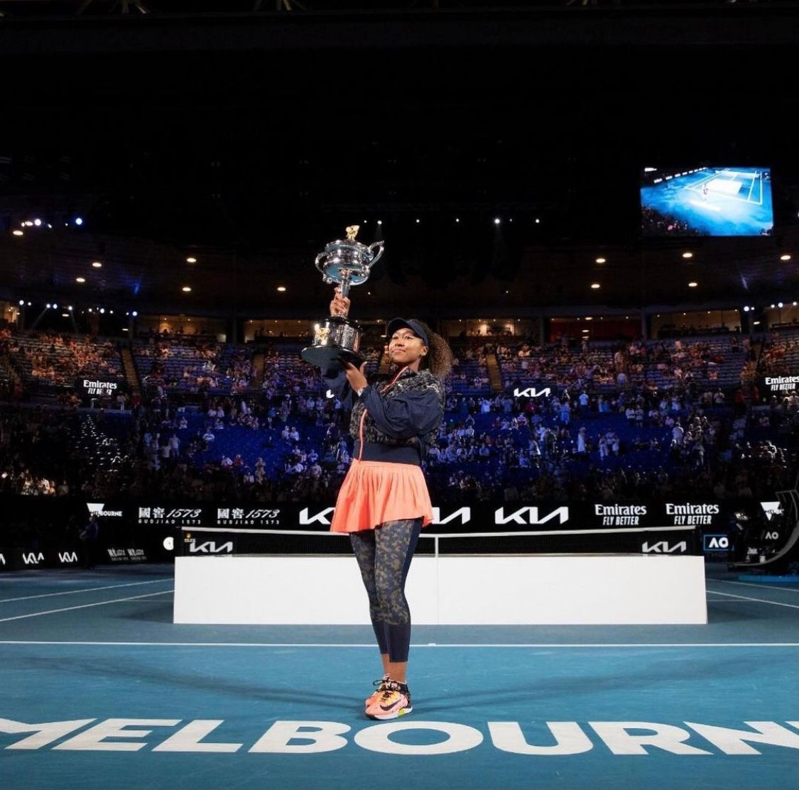 Naomi Osaka has won the 2021 #AusOpen. She is only the second woman in the Open era to go 4-0 in her first four major finals appearances.