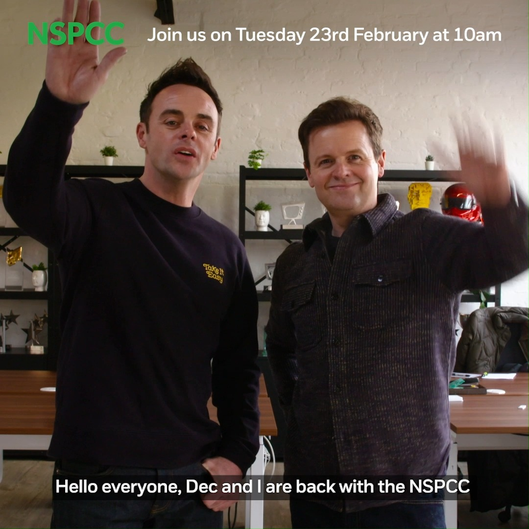 With most children learning at home, we want to make sure they don't miss our vital messages about seeking support if they're worried. Tune in to our virtual Speak out Stay safe assembly with @antanddec & @davidwalliams at 10am Tues 23rd Feb on Facebook: facebook.com/NSPCC